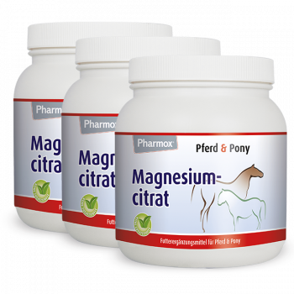 Pharmox Pferd & Pony Magnesiumcitrat 3 x 500 Gramm
