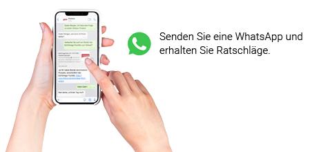 Lassen Sie sich über WhatsApp von unseren Spezialisten beraten